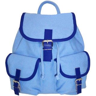 0fdc3820d282 Buy Anekaant Monochrome Blue Canvas Backpack Online - Get 45% Off