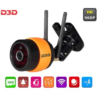 D3D Wireless 960P HD Outdoor Waterproof IP Wifi CCTV Outdoor Security Camera Model - D8016P