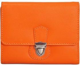 Mandava Genuine Nappa Leather Orange Ladies Wallet