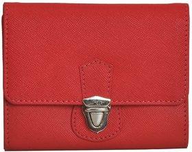 Mandava Genuine Safiano Leather Red Ladies Wallet