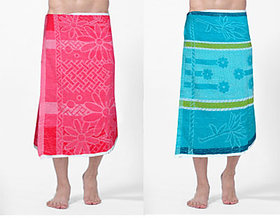 AS Pack of 2 100 cotton Bath Towels - Multicolors