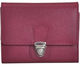 Mandava Genuine Safiano Leather Purple Ladies Wallet
