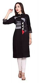 Black Designer Cotton Flex kurti