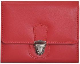 Mandava Genuine Nappa Leather Red Ladies Wallet