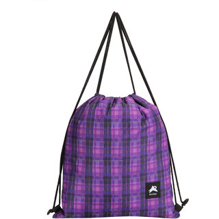 Buy PinStar Zynga String Backpack Tartan Purple XL Online - Get 50% Off cb4a743f40e16