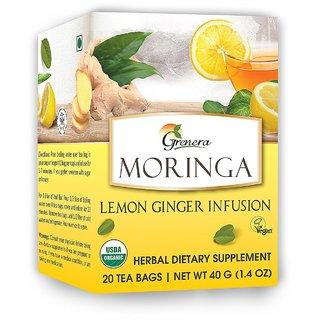 Grenera Moringa Lemon Ginger Infusion-20 Tea Bags/ Box