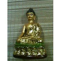 This Sitting Golden Gautam Buddha Statue Is Believed To Bring Peace And Relaxation. Displaying Him At Home Can Refresh Mind And Help People Calm Down. In Addition, This Golden Gautam Buddha Is Wearing Gold Cloth Representing Nobleness.Model 1385