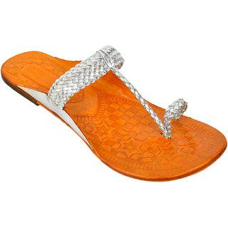 Altek Stylish Women Kolhapuri Chaapls (foot-1368-silver-p175)