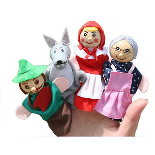 Finger Puppets Little Red Riding HoodToy Education Play Toy Hand Puppets 4 pcs.