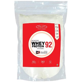 Sinew Nutrition Instantised Whey Protein Isolate 92 Raw  Unflavoured 360gm(12 Servings) Supplement Powder