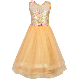 Aarika Girl's Extra Flare Premium Party Wear Gown