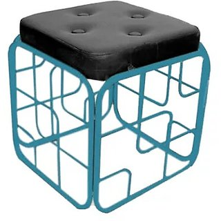 Onlineshoppee Iron  Cushion Stool/Table Size(LxBxH-13x13x14) Inch