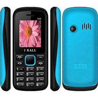 IKall New K55  1.8 Inch Dual Sim Mobile  Black  Blue