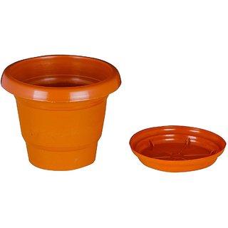 6 inch Gardening Pots + Trays - Terracotta Color Planter (Pack of Twelve) - Minerva Naturals