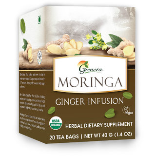 Grenera Moringa Ginger Infusion-20 Tea Bags/ Box