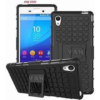 SIFAT  Defender Back Case Cover Kick Stand for Vivo Y51 / Y51L - BLACK