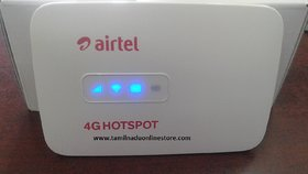 Airtel 4G Wifi Hotspot - Unlocked (Multi Sim Support) Any 2g/3g/4g Sim (usb Wired+Wifi)(Battery,Charger,Cable,Datacard)