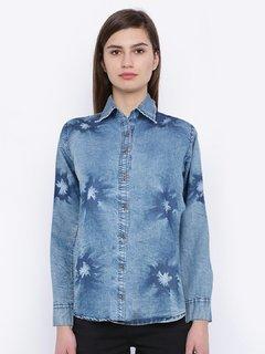 Pinky Pari Blue Denim Shirt