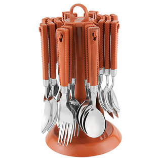 V-Luma Elegante Aristo Cutlery Set - 24 Pcs Light Brown