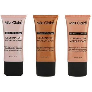 Miss Claire Illuminator Daily Care Cream Make-Up Base For All Skin Types (Set of 1)