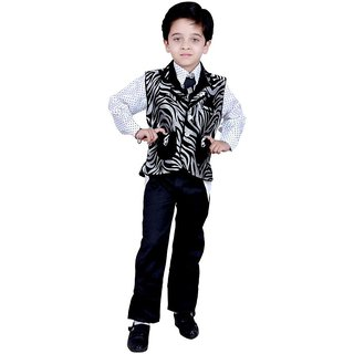 Kids ethnic dresses baby clothing boys Shirt Pant Waistcoat & Tie