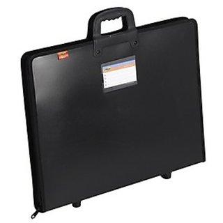 Trio ZDCA3 Zipper Designer Case With Handle A3 (Set Of 1, Black)