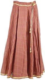 Zuhayr Women's Full Skirt (Brown)