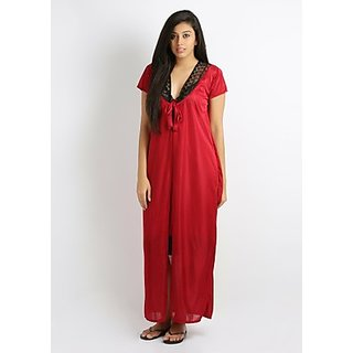Klamotten Maroon Nighty With Robe Prices in India- Shopclues- Online ... f120bb33b
