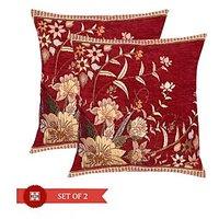 Homesazawat Designer Set Of 2 Cushion Cover (16'' X 16'')