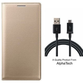 Coolpad Note 3 Lite Preum Quality ather Finish Flip Cover ith Free  Cab by Alphatech