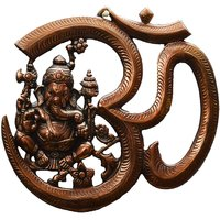 Metal Wall Hanging Of Lord Ganesha With Om