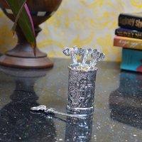 Royal White Metal Forks With Holder (Set Of 4 Forks)