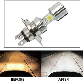 Capeshoppers Silver Missile Hi Low Beam H4 Bike Headlight Bulb For Hero MotoCorp CBZ