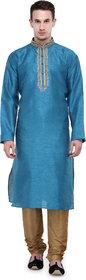 Rg Designers Rama Self Design Full Sleeves Kurta Pyjama Set
