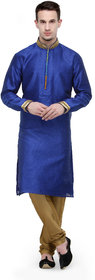 Rg Designers Royal Blue Buti Work Full Sleeves Kurta Pyjama Set