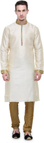 Rg Designers Cream Buti Work Full Sleeves Kurta Pyjama Set