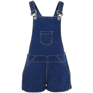 ffa7d4114 Buy Naughty Ninos Girl S Denim Fade Washed Dungaree Shorts Online ...