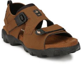 Shoegaro Men's Tan Velcro Sandals