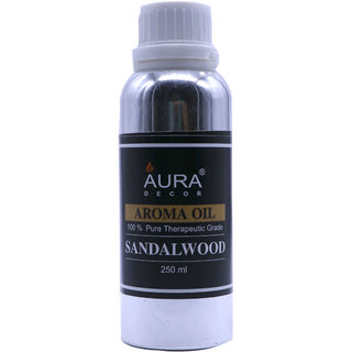 AuraDecor Sandalwood Aroma Oil, 250ml (For Electric Diffusers/ Tealight Diffusers)