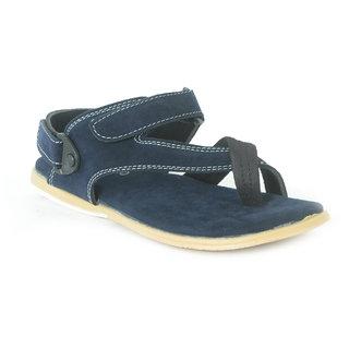 Shoegaro Men's Blue Casual Velcro Sandals