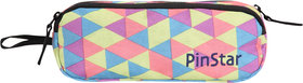 PinStar Dual Compartment Pencil Pouch V1  Graphic Green OS