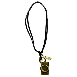 Men Style Antique Vintage Leather with LOMO Camera Brown Bronze and Leather  Pendant For Men and Boys
