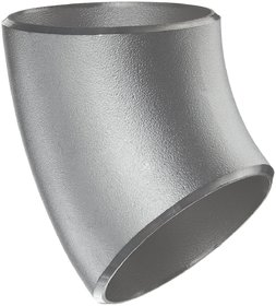 Stainless Steel 304/304L Butt-Weld Pipe Fitting, 45 Degree Elbow Long Radius, Schedule 10s