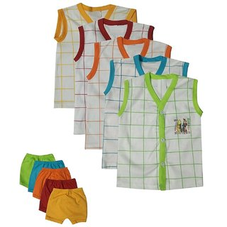 GMR Born baby top and bottom set ,pack of 5 (0-3 months)