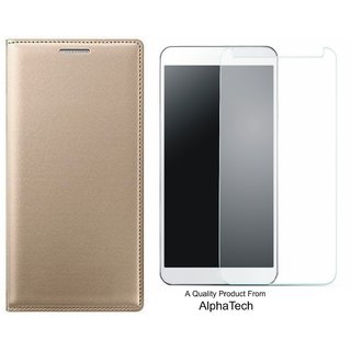 Alphatech Preum Quality ather Finish Flip Cover for Mola G Play 4th Gen ith Free  Glass