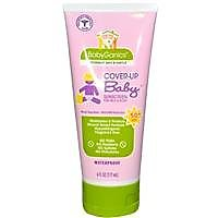 BabyGanics Cover Up Baby Sunscreen For Face & Body SPF 50+, Fragrance Free, 6 Oz