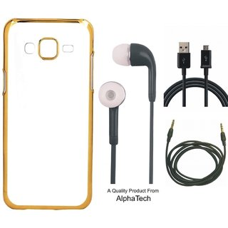 Alphatech Preum Quality Chrome Tpu Back Cover for   6S Plus ith Golden Ectroplated Edges ith Free Earphes  Cab and AUX Cab