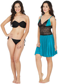 Klamotten Nightwear and Bikini Set Combo 221K-07T