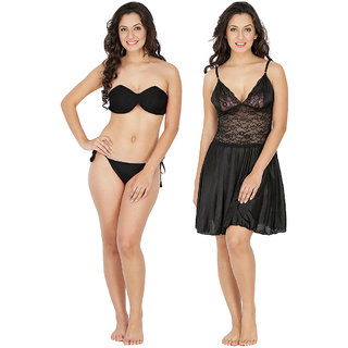 Klamotten Nightwear and Bikini Set Combo 221K-07K