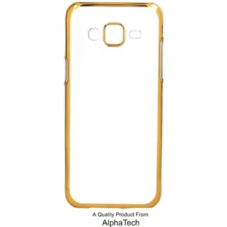 Alphatech Preum Quality Chrome Tpu Back Cover for novo K6 Poer ith Golden Ectroplated Edges